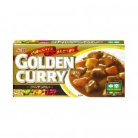 Паста Карри средне-острая Golden Curry S&B, 198г Япония