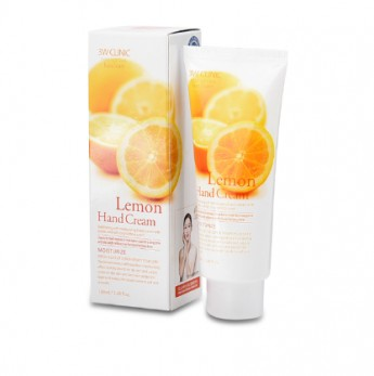 Крем для рук с экстрактом лимона 3W Clinic Lemon Hand Cream, 100 мл