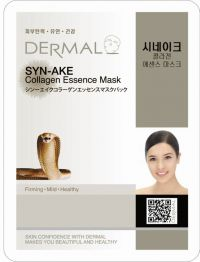 Маска для лица с коллагеном и ядом Храмовой гадюки Dermal Syn-ake Collagen Essence Mask, Корея, 23г