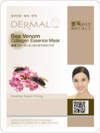 Маска для лица с коллагеном и пчелиным ядом Dermal Bee Venom Collagen Essence Mask, Корея, 23г