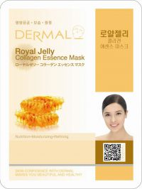 Маска для лица с коллагеном и пчелиным маточным молочком Royal Jelly Collagen Essence Mask, Корея, 23г