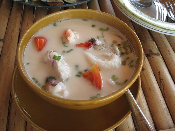 Суп на кокосовом молоке с морепродуктами рецепт