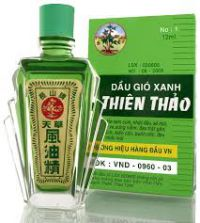 Лечебное масло Тхиен Тао  (Thien Thao Medicated Oil - Dau Gio Xanh), 12мл