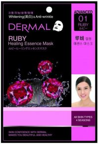 Коллагеновая маска Dermal Advanced Ruby Healing Essence Mask, Корея, 28г