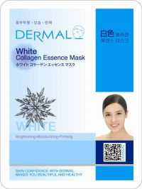 Маска для лица с коллагеном и экстрактом коры шелковицы Dermal White Collagen Essence Mask, Корея, 23г