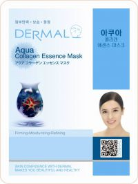 Маска для лица с коллагеном и морской водой Dermal Aqua Collagen Essence Mask, Корея, 23г
