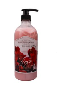 Гель для душа 3W Clinic Retaxing Rose Body Cleaner с розой, 1000мл, Корея
