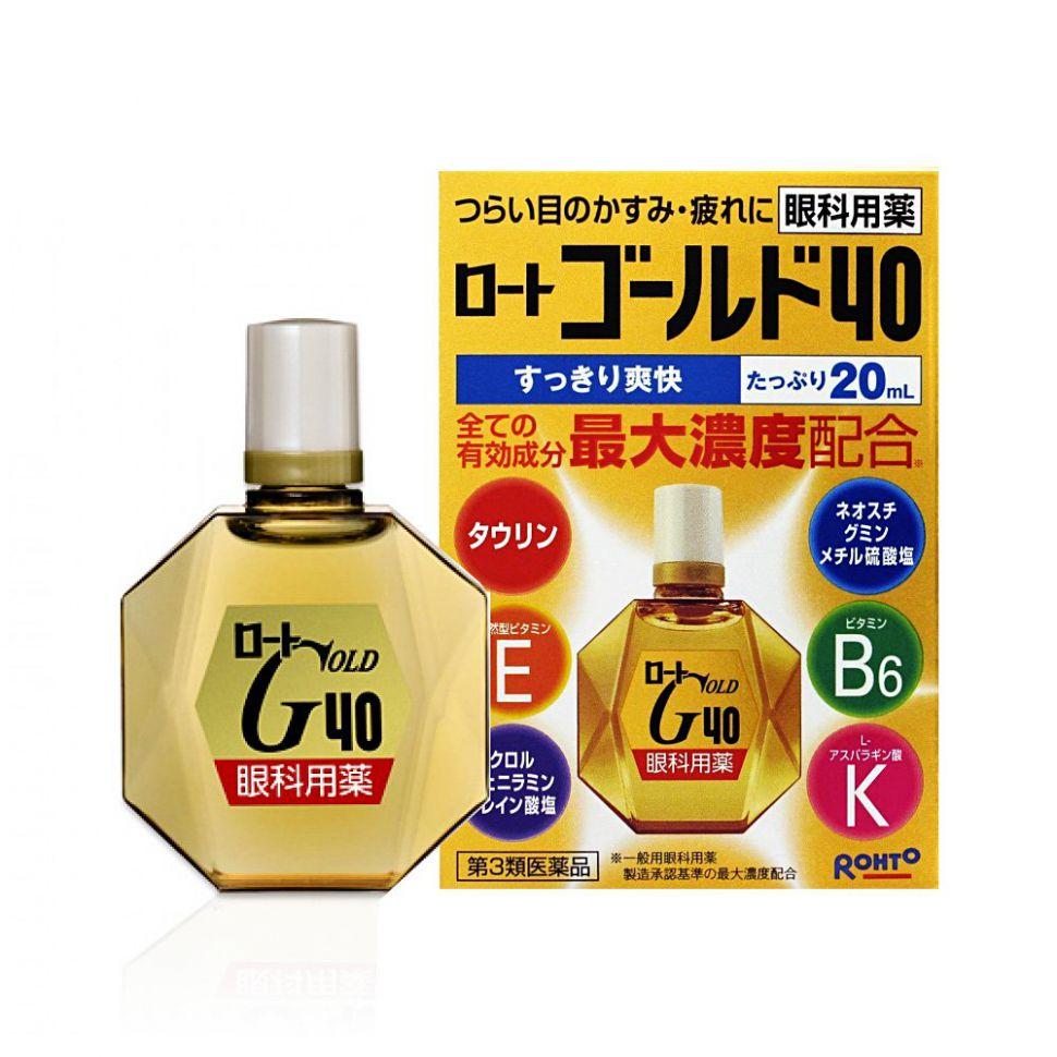 9129933fdf83 Купить Возрастные глазные капли Rohto Gold, Япония, 20мл по цене 1 ...