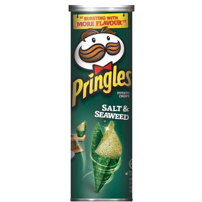 Купить Чипсы Pringles с солью и морскими водорослями, 110г по цене 259 руб.